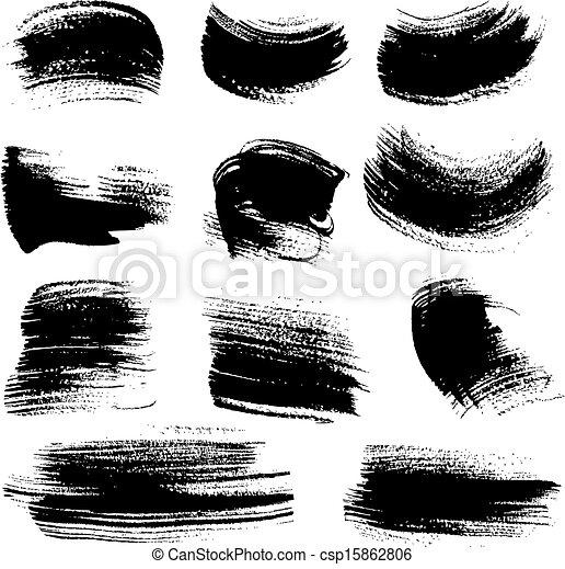 set, textured, borsteel slagen, 4 - csp15862806