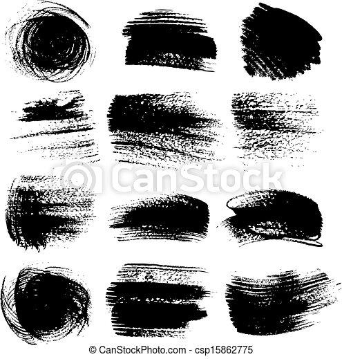 set, textured, borstel, 2, slagen - csp15862775