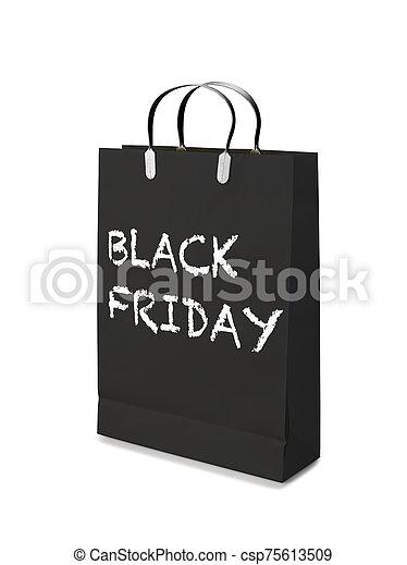 shoppen , friday., luxe, zak, black  - csp75613509