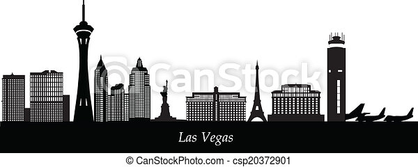 skyline, vegad, luchthaven, las - csp20372901
