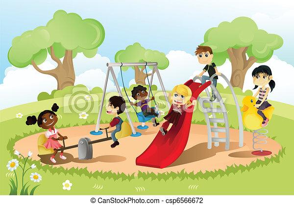 speelplaats, kinderen - csp6566672