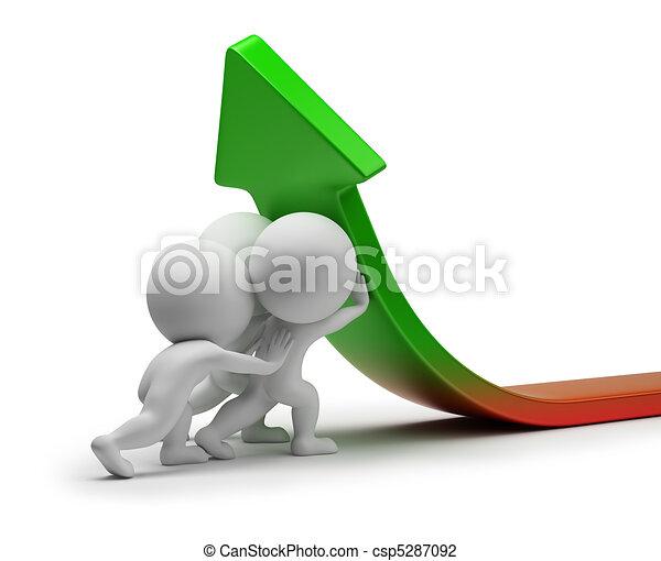 statistiek, mensen, -, verbetering, kleine, 3d - csp5287092