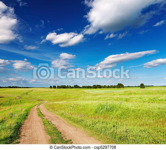 straat, landscape, land - csp5297708