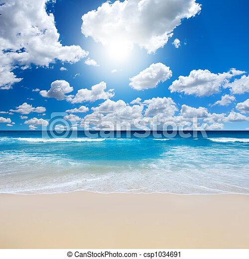 strand, landscape, prachtig - csp1034691