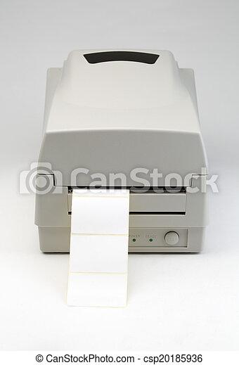 streepjescode, printer, etiket - csp20185936