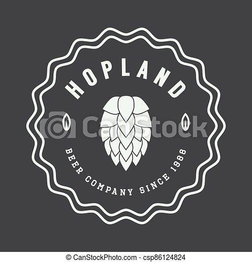 style., logo, ouderwetse , bier - csp86124824