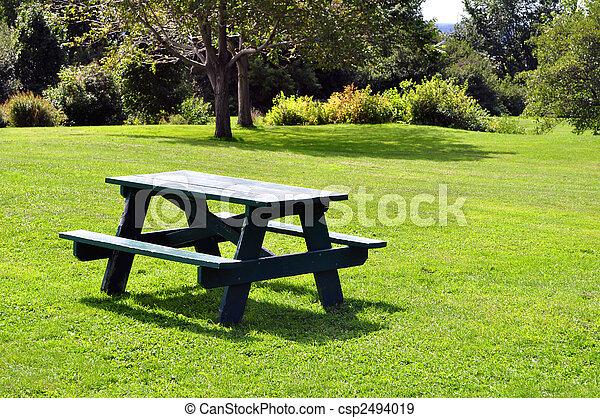 tafel, picknick - csp2494019