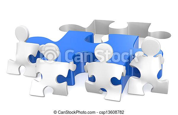 teamwork. - csp13608782