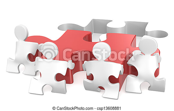 teamwork. - csp13608881