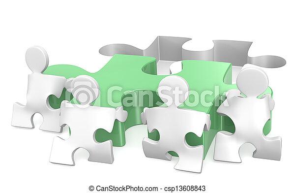 teamwork. - csp13608843