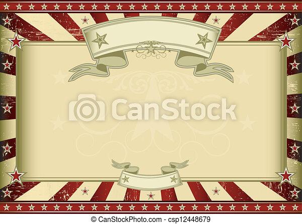 textured, certificaat, retro, rood - csp12448679