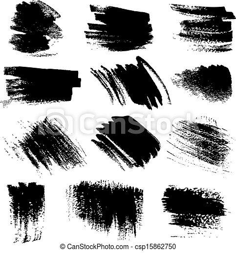textured, set1, borsteel slagen - csp15862750