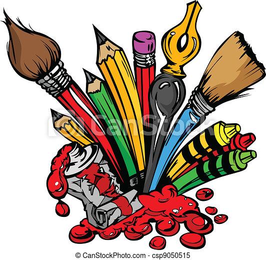 toebehoren, vector, kunst, spotprent - csp9050515