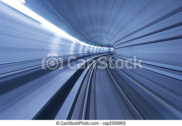 tunnel, hoge snelheid, metro - csp2309905