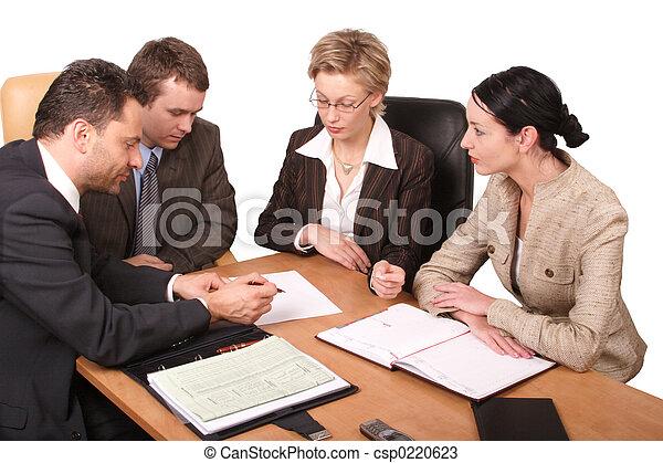 vergadering, zakelijk - csp0220623