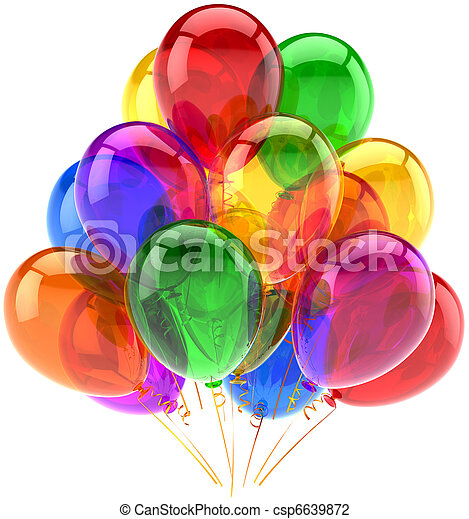 versiering, feestje, jarig, ballons - csp6639872