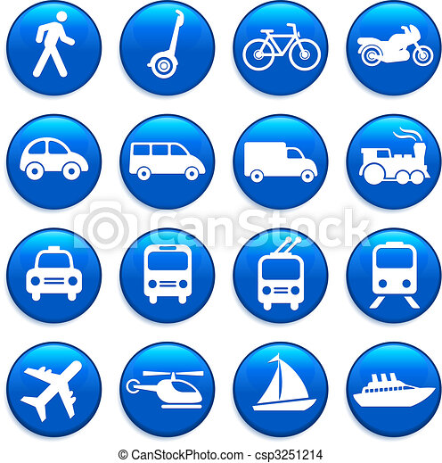 vervoer, communie, ontwerp, iconen - csp3251214