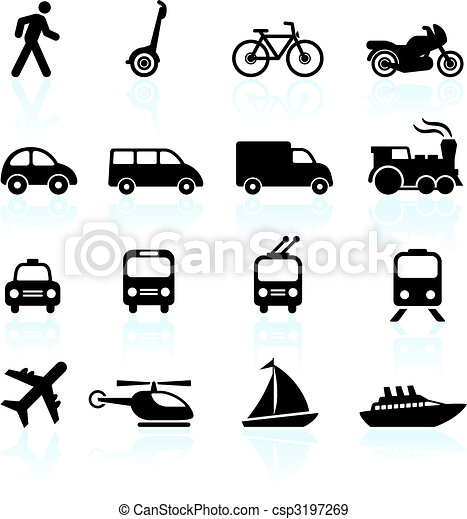 vervoer, communie, ontwerp, iconen - csp3197269