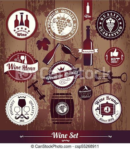 vintage wijn - csp55268911