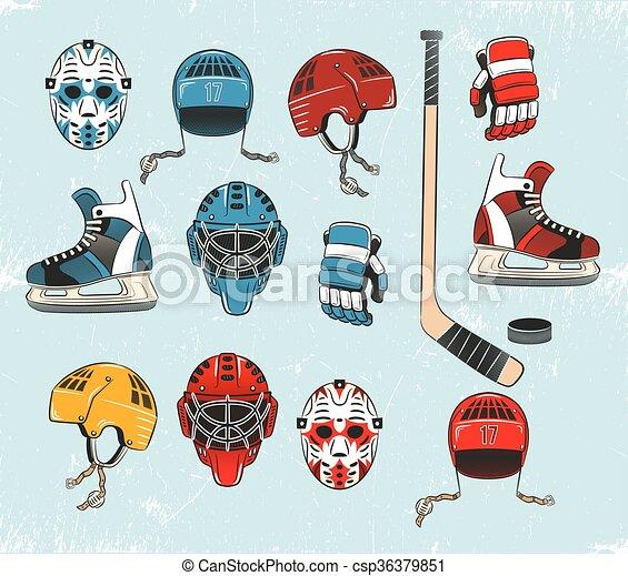 voorwerpen, hockey - csp36379851