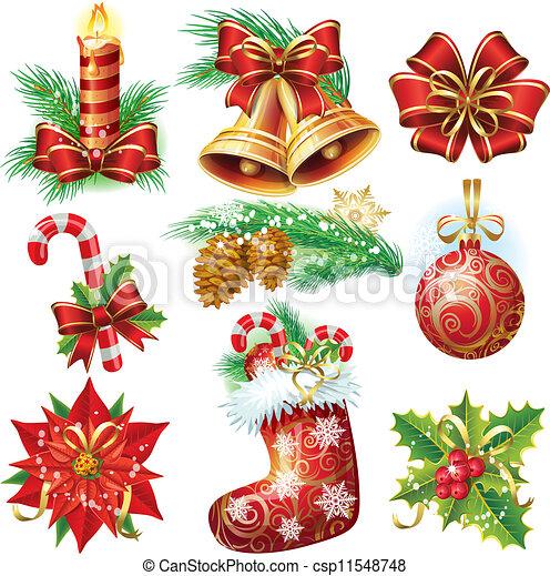 voorwerpen, kerstmis - csp11548748