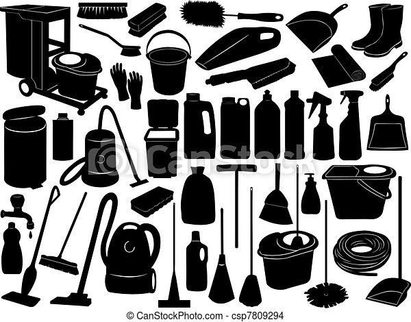 voorwerpen, poetsen - csp7809294