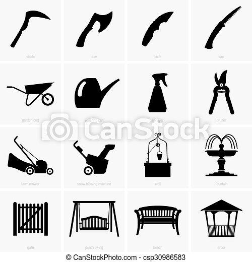 voorwerpen, tuin - csp30986583
