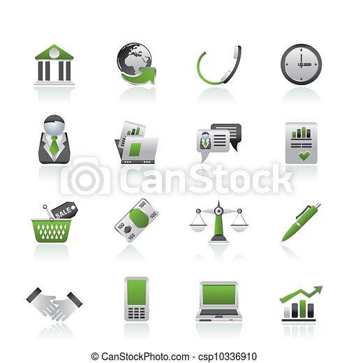 voorwerpen, zakenkantoor, iconen - csp10336910