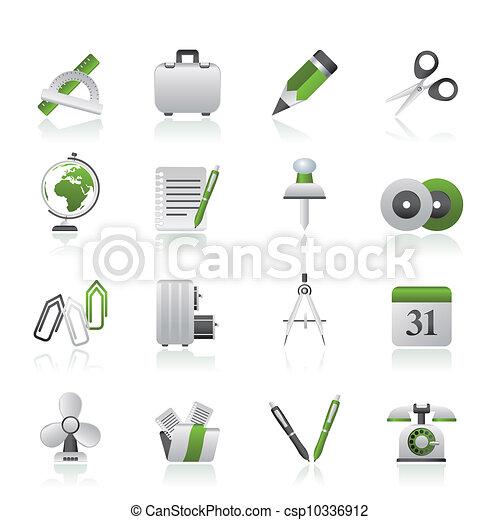voorwerpen, zakenkantoor, iconen - csp10336912