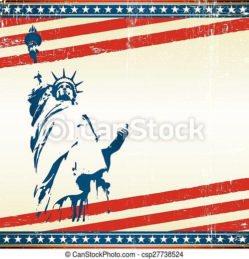 vrijheid, postkaart, plein - csp27738524