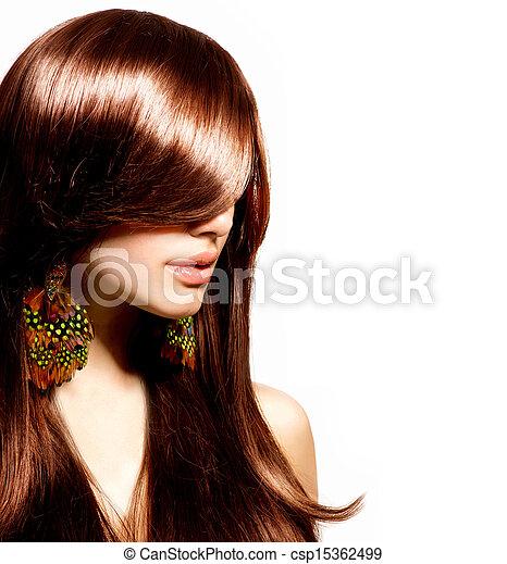 vrouw, beauty, makeup, mode, portrait., model., modieus - csp15362499