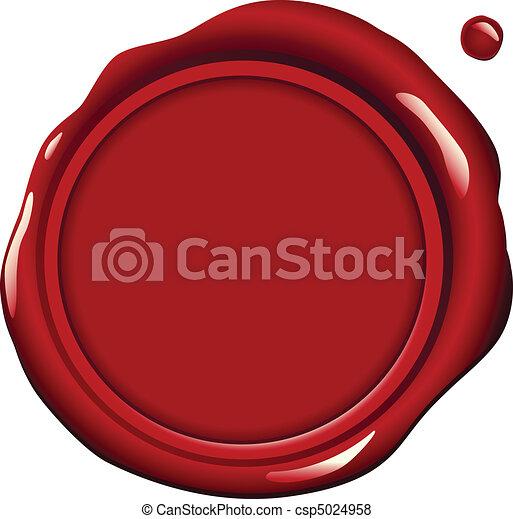 was, rood, zeehondje - csp5024958