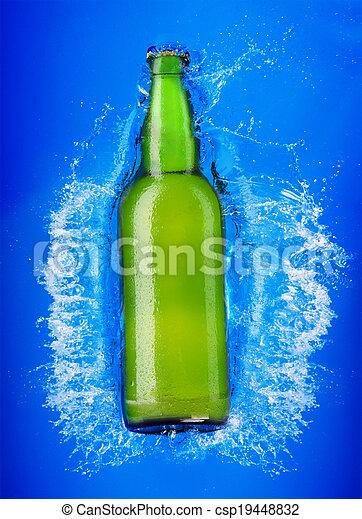 water, bier fles - csp19448832