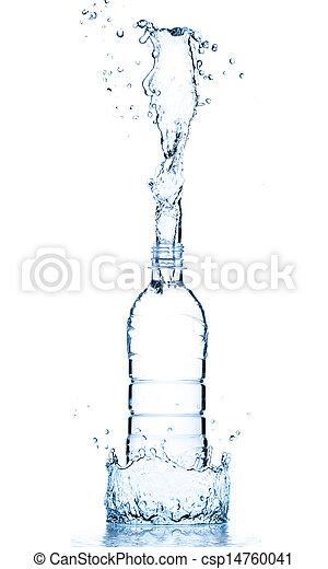 water, gespetter, fles - csp14760041