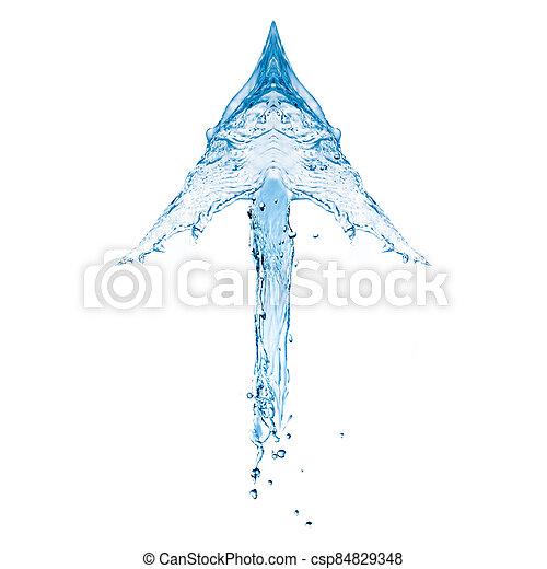 water, het tonen, pijl omhoog - csp84829348