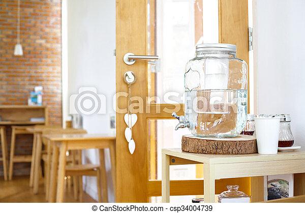 water, mineraal, fles - csp34004739