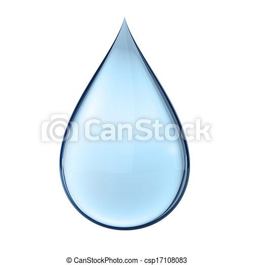 water, witte , druppel, 3d - csp17108083