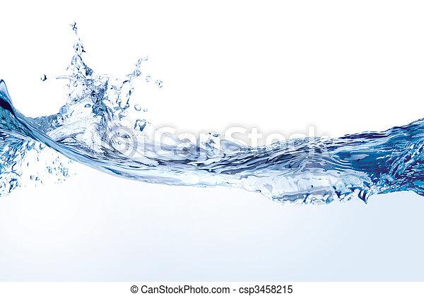 water, witte , gespetter, vrijstaand - csp3458215