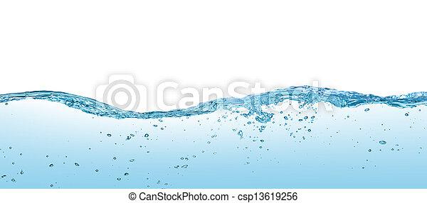 water, witte , vrijstaand, achtergrond, golven - csp13619256