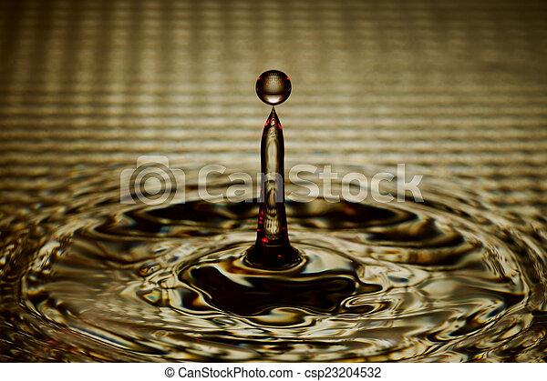 waterdaling, gespetter, ripples - csp23204532