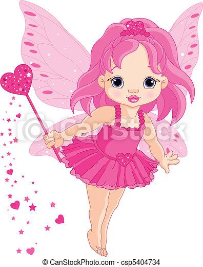 weinig; niet zo(veel), elfje, liefde, baby, schattig - csp5404734