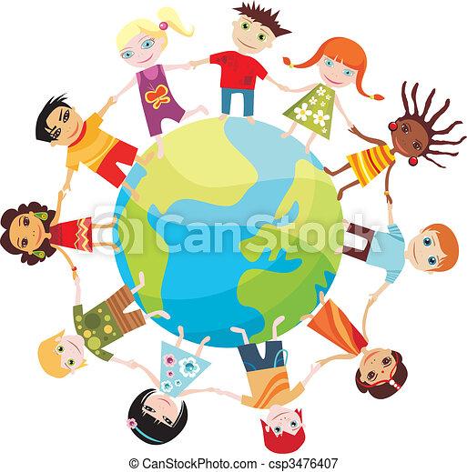 wereld, kinderen - csp3476407