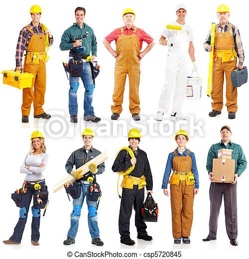 werkmannen , opdrachtnemers, mensen - csp5720845