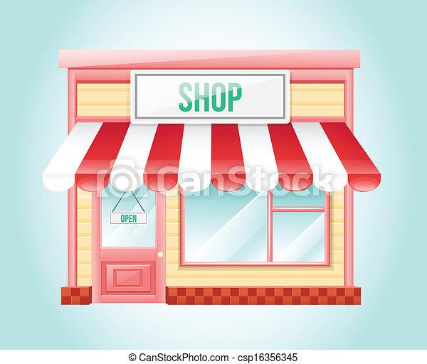 winkel, markt, pictogram - csp16356345
