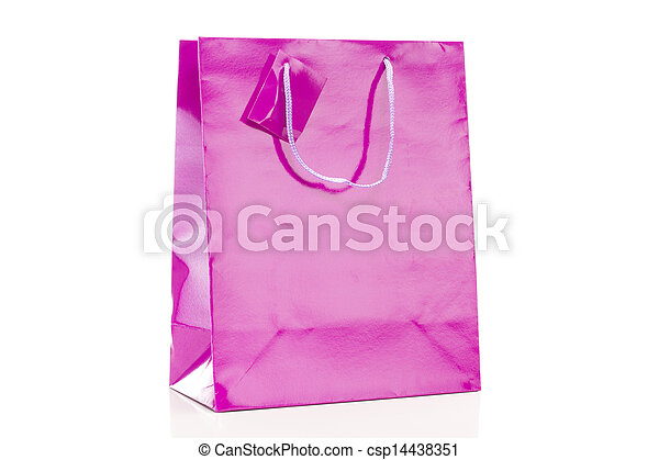 winkeltas, enkel, achtergrond, viooltje, witte  - csp14438351