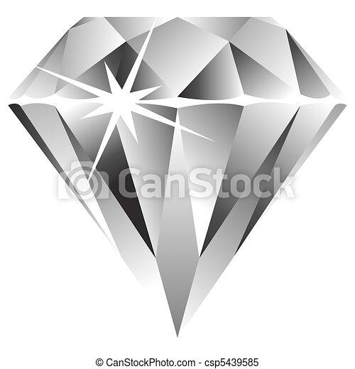 witte , diamant, tegen - csp5439585