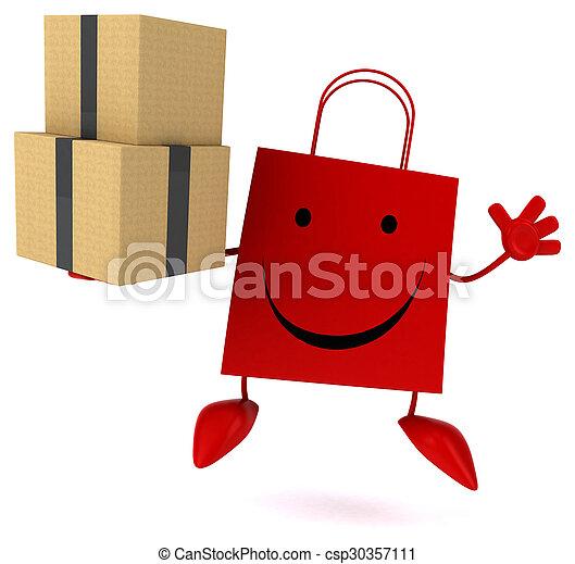 zak, shoppen  - csp30357111