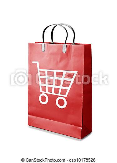 zak, shoppen  - csp10178526