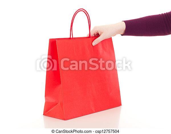 zak, shoppen  - csp12757504