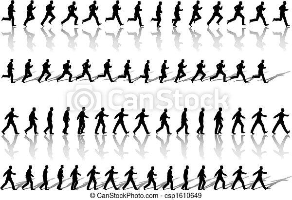 zakelijk, rotaties, wandeling, macht, man, frame, uitvoeren, &, opeenvolging - csp1610649